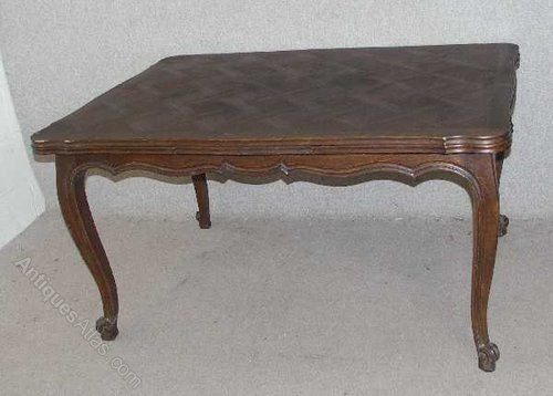 French Parquet Top Dining Table