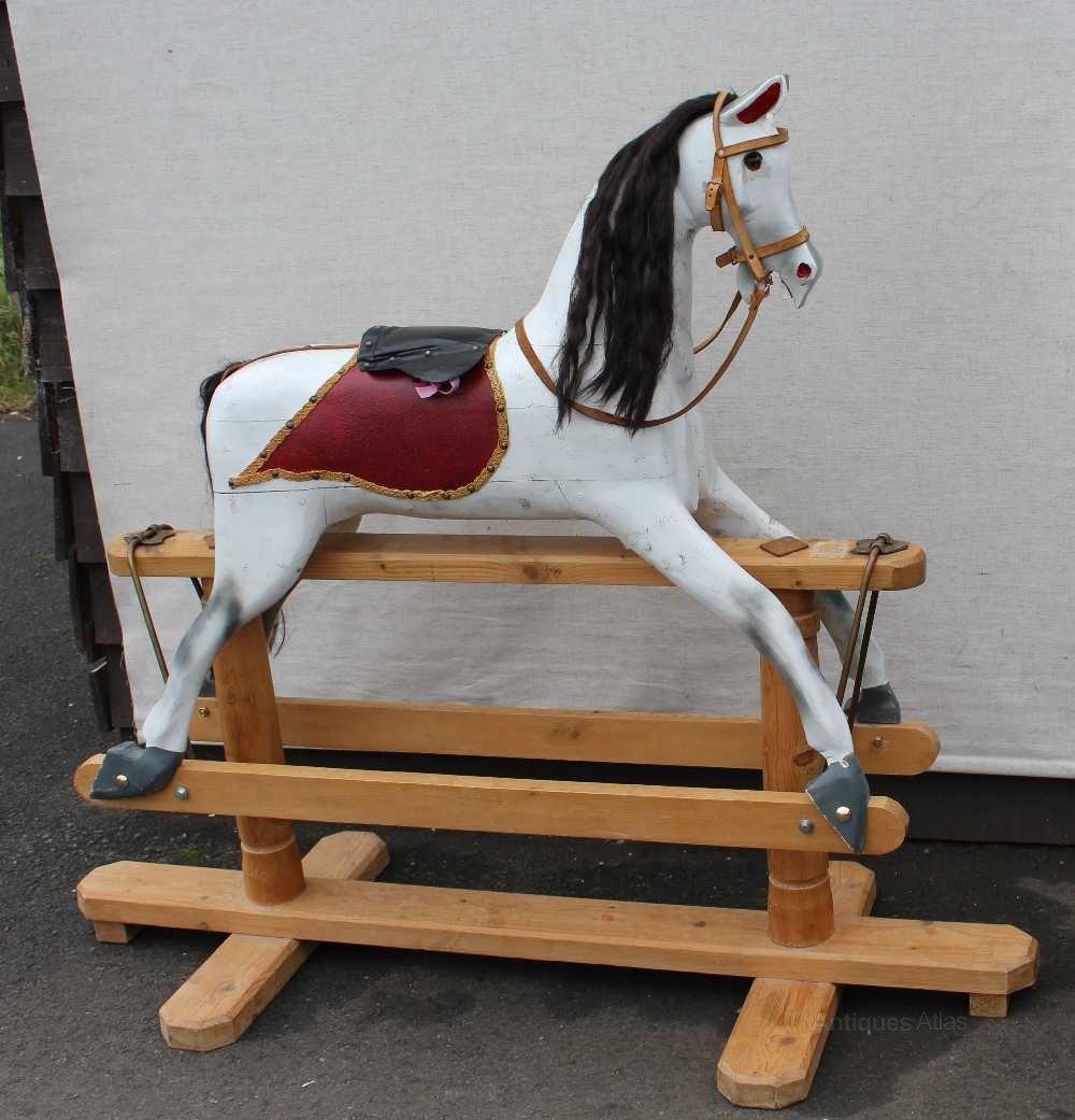 Antiques Atlas Large Painted Rocking Horse