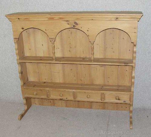 Pine Wall shelf unit/Plate Rack/ Dresser Top & Pine Wall Shelf Unit/Plate Rack/ Dresser Top - Antiques Atlas