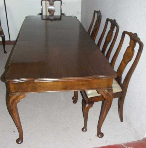 Antiques Atlas Walnut Queen Anne Dining Table And 8 Chairs