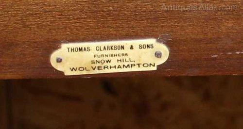 Writing Desk With Drawer Thomas Clarkson Son Antique Desks Mahogany