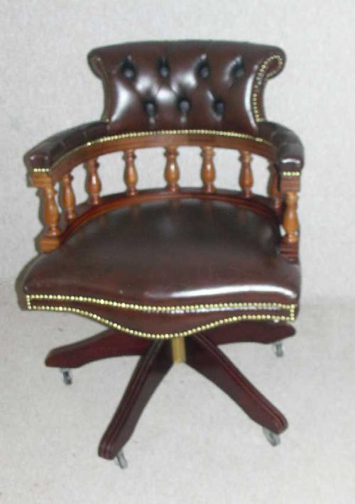 antique leather chair antiques atlas brown leather office chair 1287