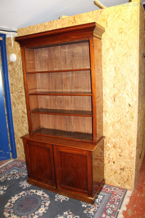 1900 mahogany bookcase with open bookshelves antiques atlas - Mahogany Bookshelves