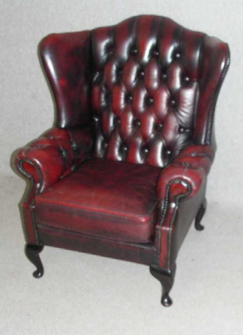 Antiques Atlas Red Leather Wingback Chair