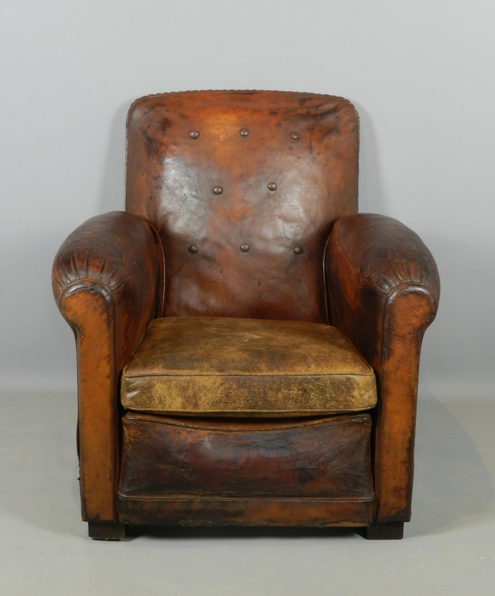 Art deco leather club chair antiques atlas for Examples of art deco furniture