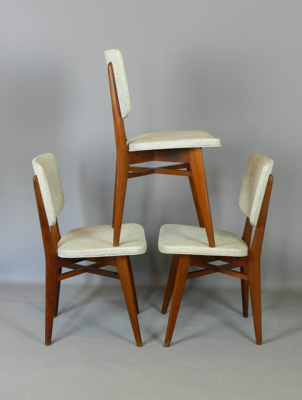 Antiques atlas classic mid century set of 4 french for Classic mid century chairs