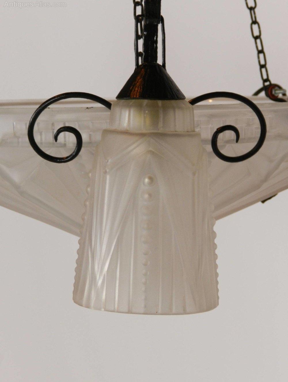 Antiques Atlas French Art Deco Ceiling Light Chandelier