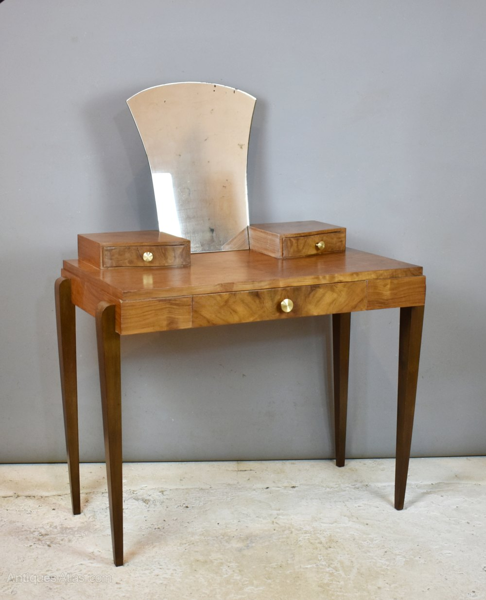 Antiques Atlas French Art Deco Style Walnut Dressing Table