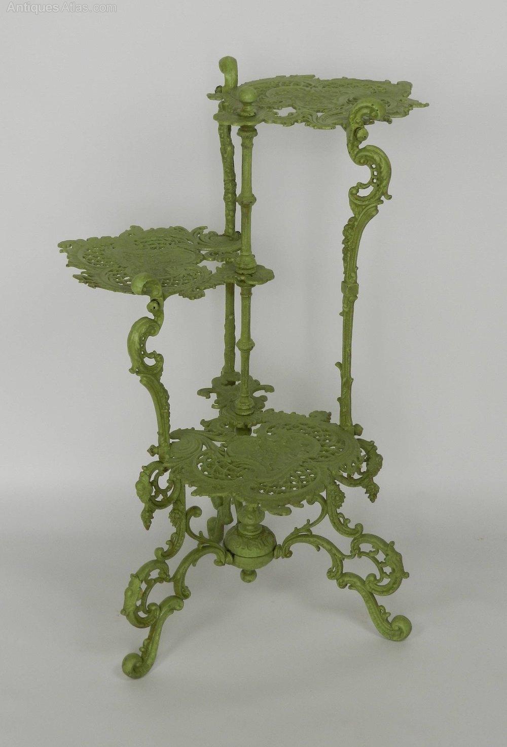 Antiques Atlas French Art Nouveau Iron Three Tier Plant
