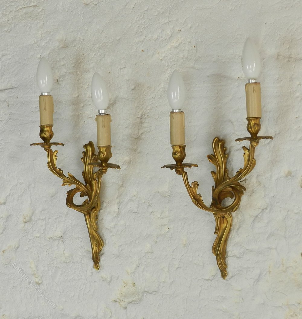 Pair French Antique Wall Sconces Lights Antique Lighting, Antique Wall  Lights ...