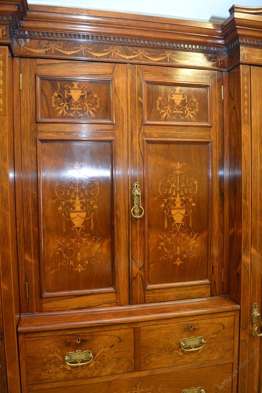 Dealer Com Login >> Inlaid Rosewood Bedroom Suite C1890 - Antiques Atlas