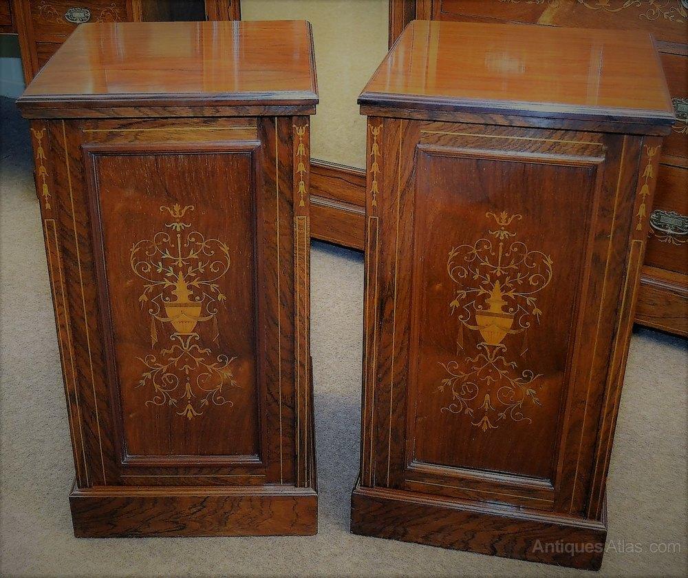 Rosewood Bedroom Furniture Inlaid Rosewood Bedroom Suite C1890 Antiques Atlas