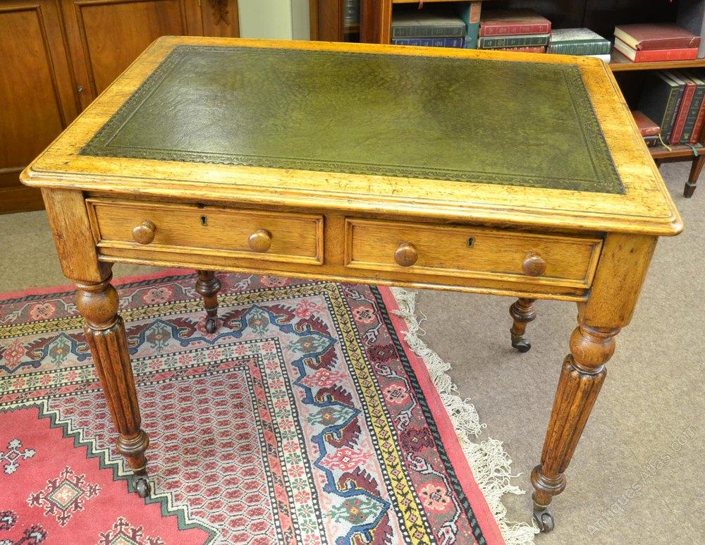 Victorian Oak Library Table C1870 Antique Tables