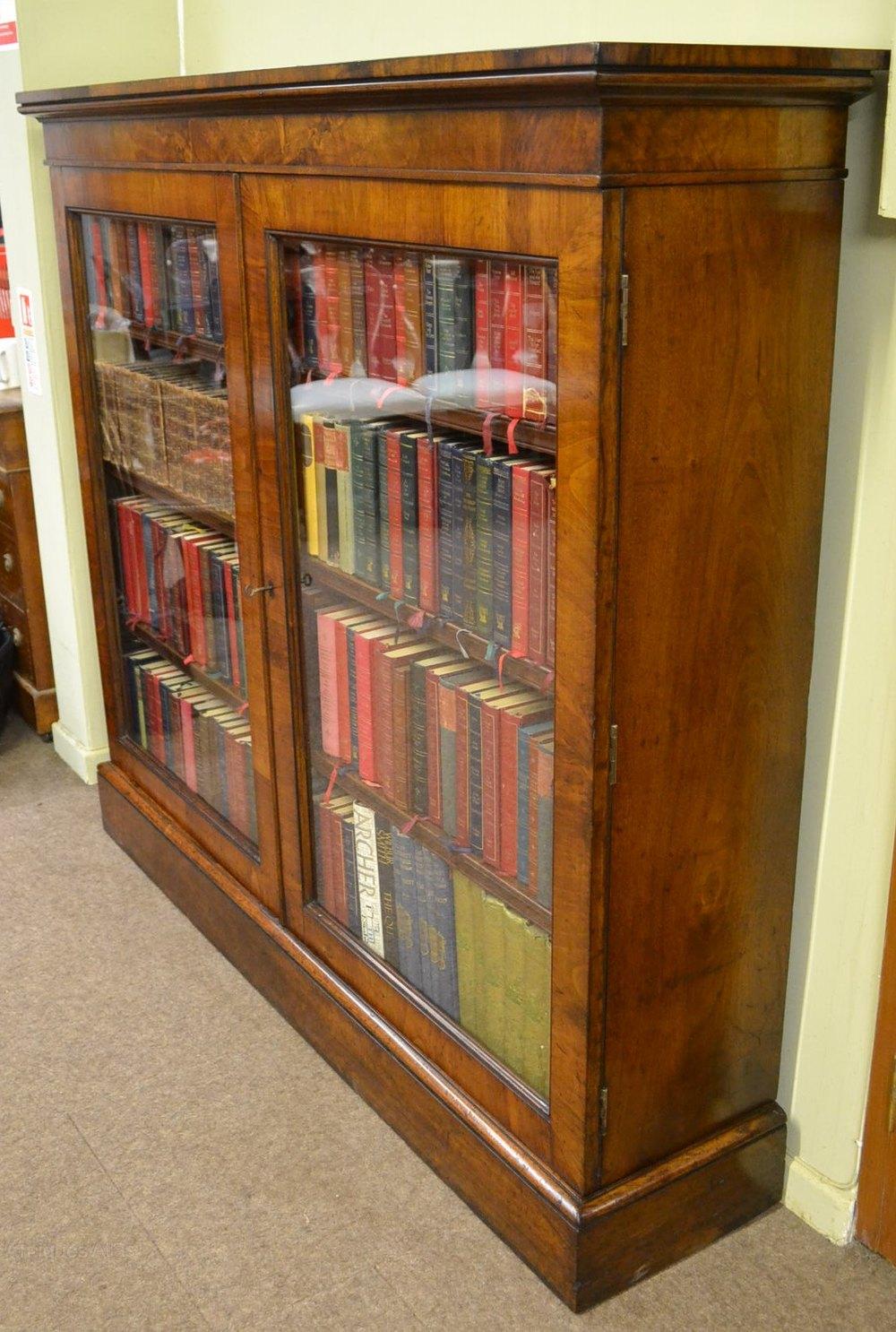 walnut bookcase c  antiques atlas - walnut bookcase c antique glazed bookcases bookcase walnut