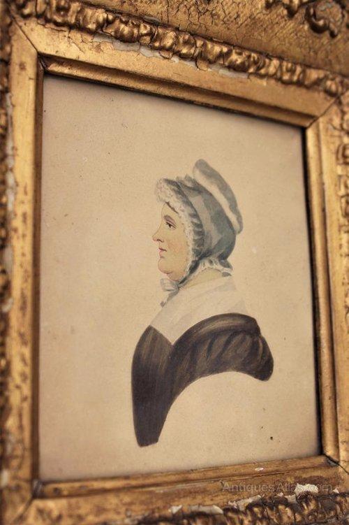 Antiques Atlas 19th Century Miniature Portrait In Gilt Frame