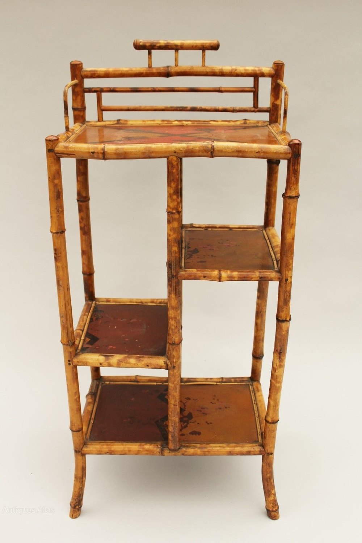 Antique Bamboo Shelves Whatnot ...