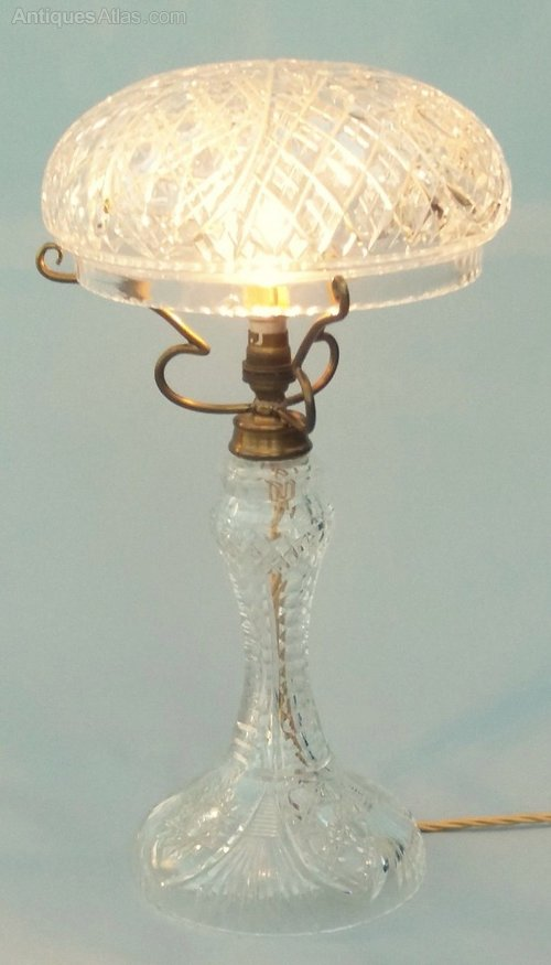 Antique Cut Gl Crystal Table Lamp Lighting Lamps