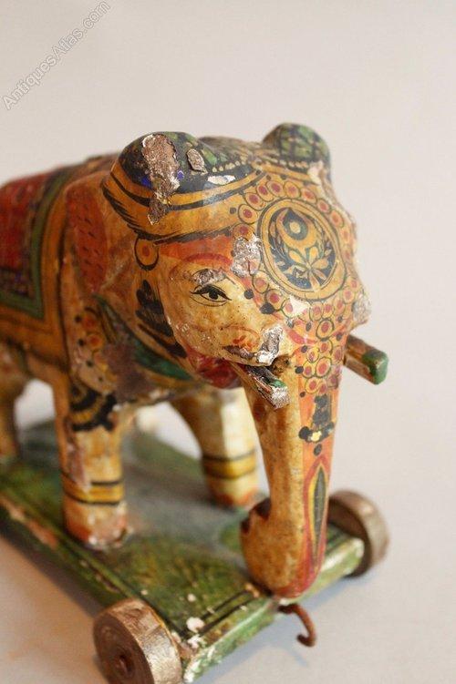 Antiques Atlas Antique Indian Painted Elephants Toys