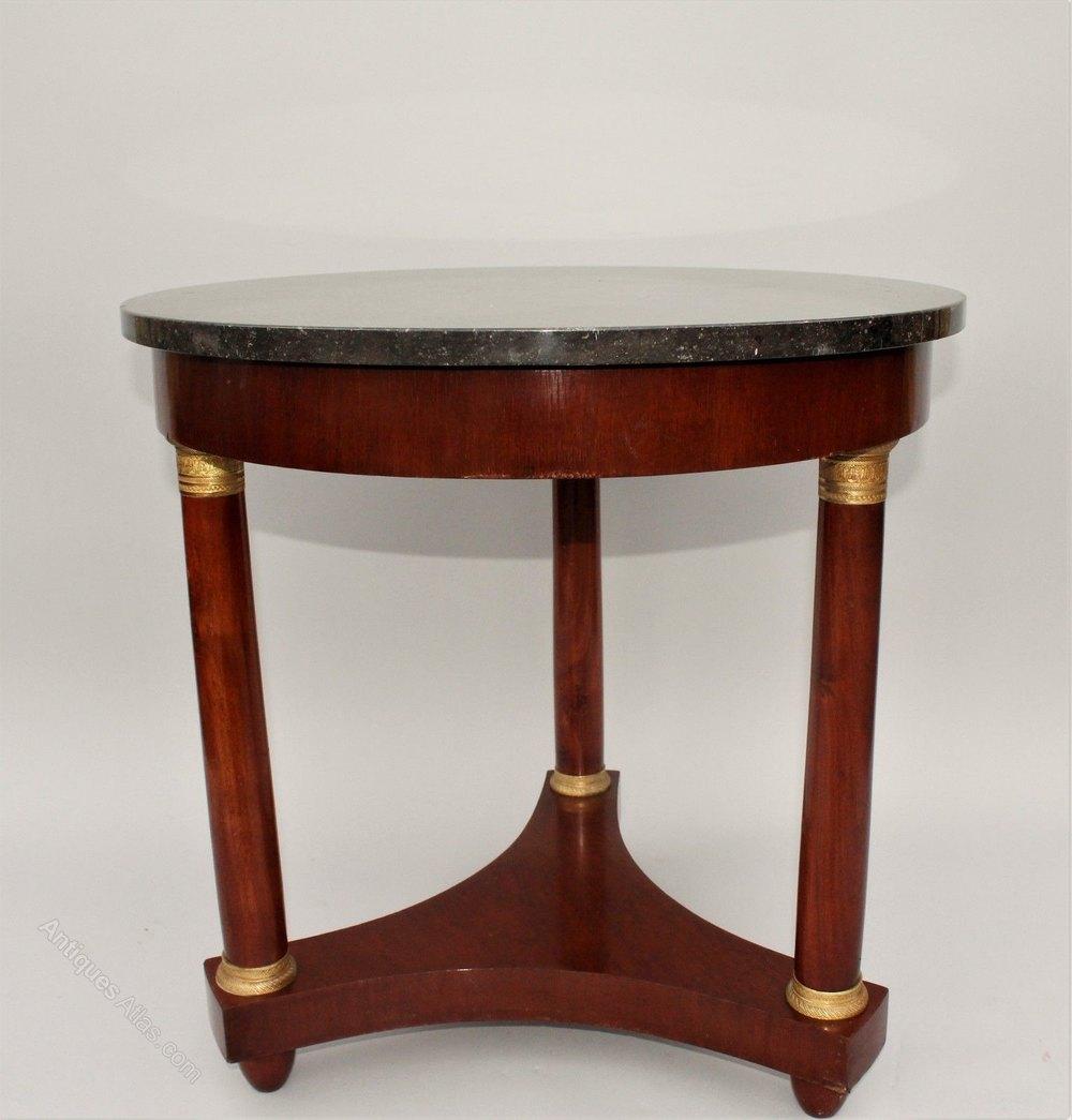 Empire Style Mahogany Coffee Table