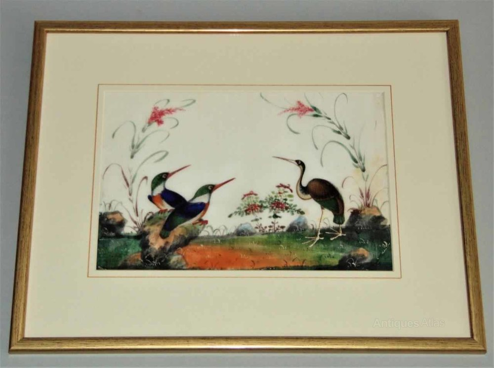 Antiques Atlas - Chinese Watercolour Painting On Pith 19th Century