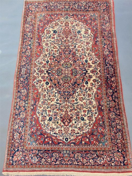 Fine Antique Kashan Rug Carpet