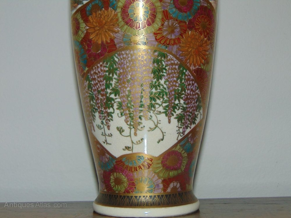 Antiques Atlas Fine Hand Painted Japanese Satsuma Vase