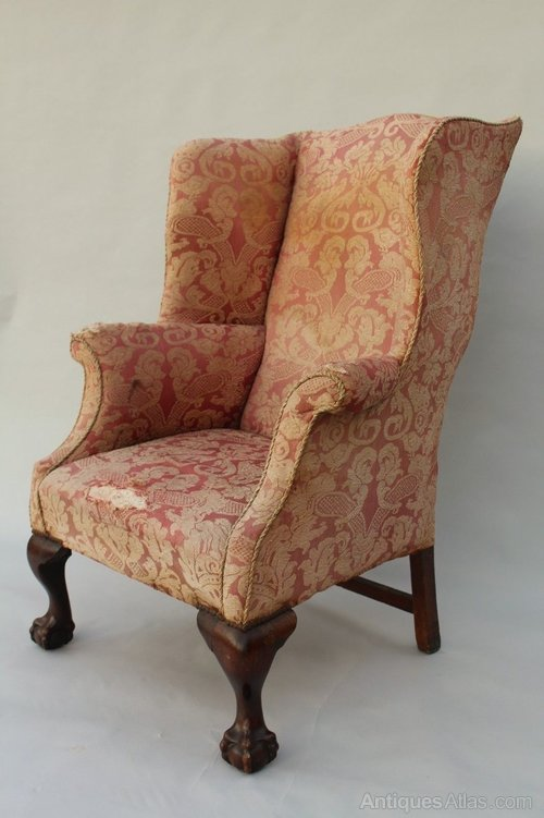 George III Style Antique Wingback Armchair ... - George III Style Antique Wingback Armchair - Antiques Atlas