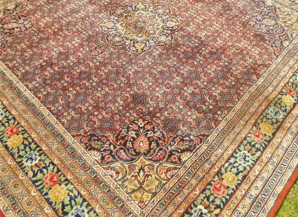 Antiques Atlas Hand Woven Indian Bidjar Carpet Room Size