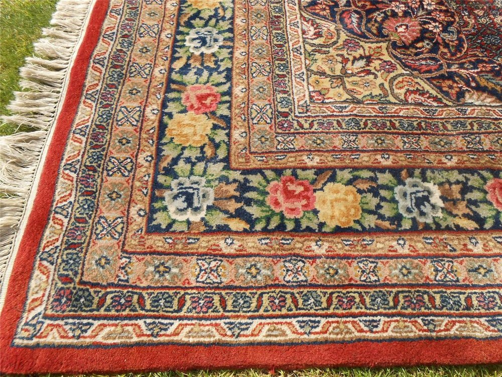 Hand Woven Indian Bidjar Carpet Room Size Antique And Vintage Carpets Rug
