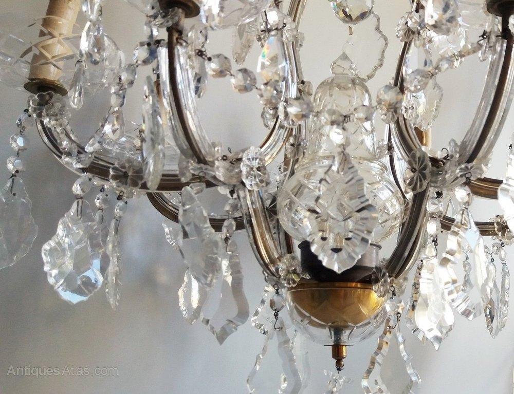 Antiques Atlas Imposing Antique Cut Crystal 9 Light