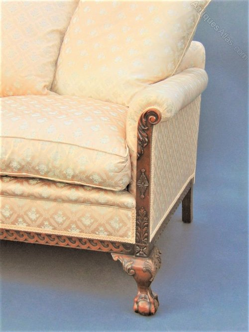 Mahogany Ball Amp Claw Sofa Settee Antiques Atlas