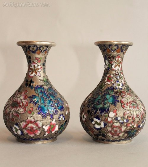 Antiques Atlas Pair Of Chinese Champleve Vases