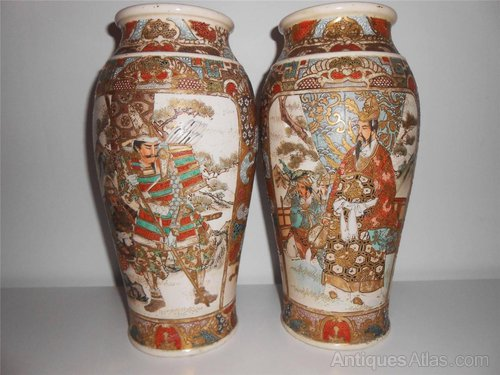Antiques Atlas Pair Of Japanese Satsuma Vases Meiji Period