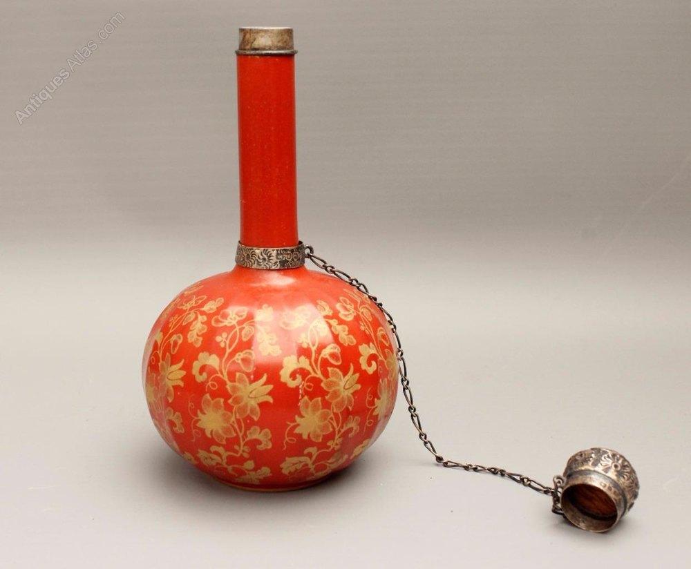 Antiques Atlas Porcelain Scent Bottle Silver Mounts 1889