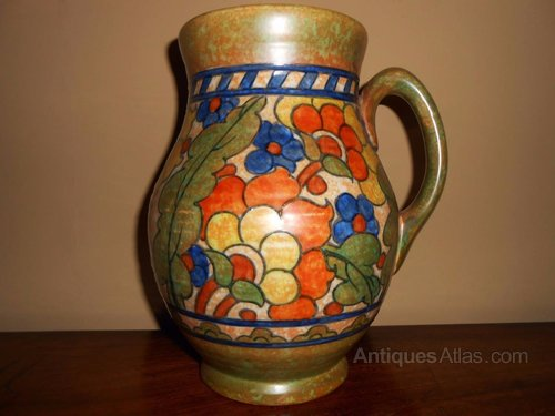 Antiques Atlas Signed Charlotte Rhead Vase Crown Ducal Byzantine