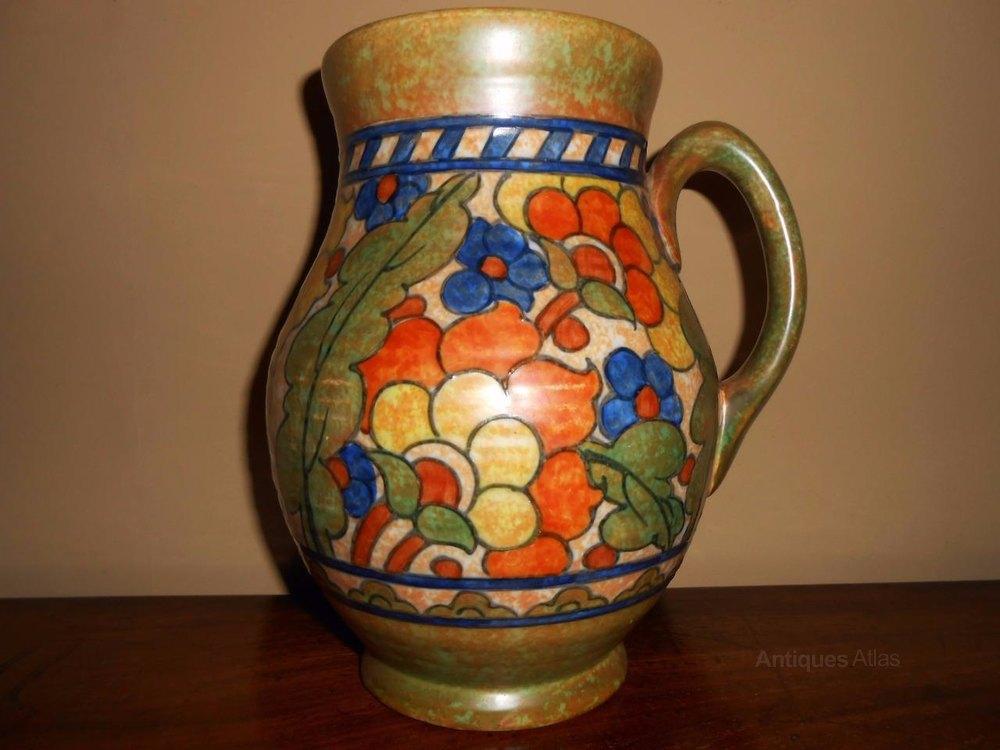 Antiques Atlas Signed Charlotte Rhead Vase Crown Ducal
