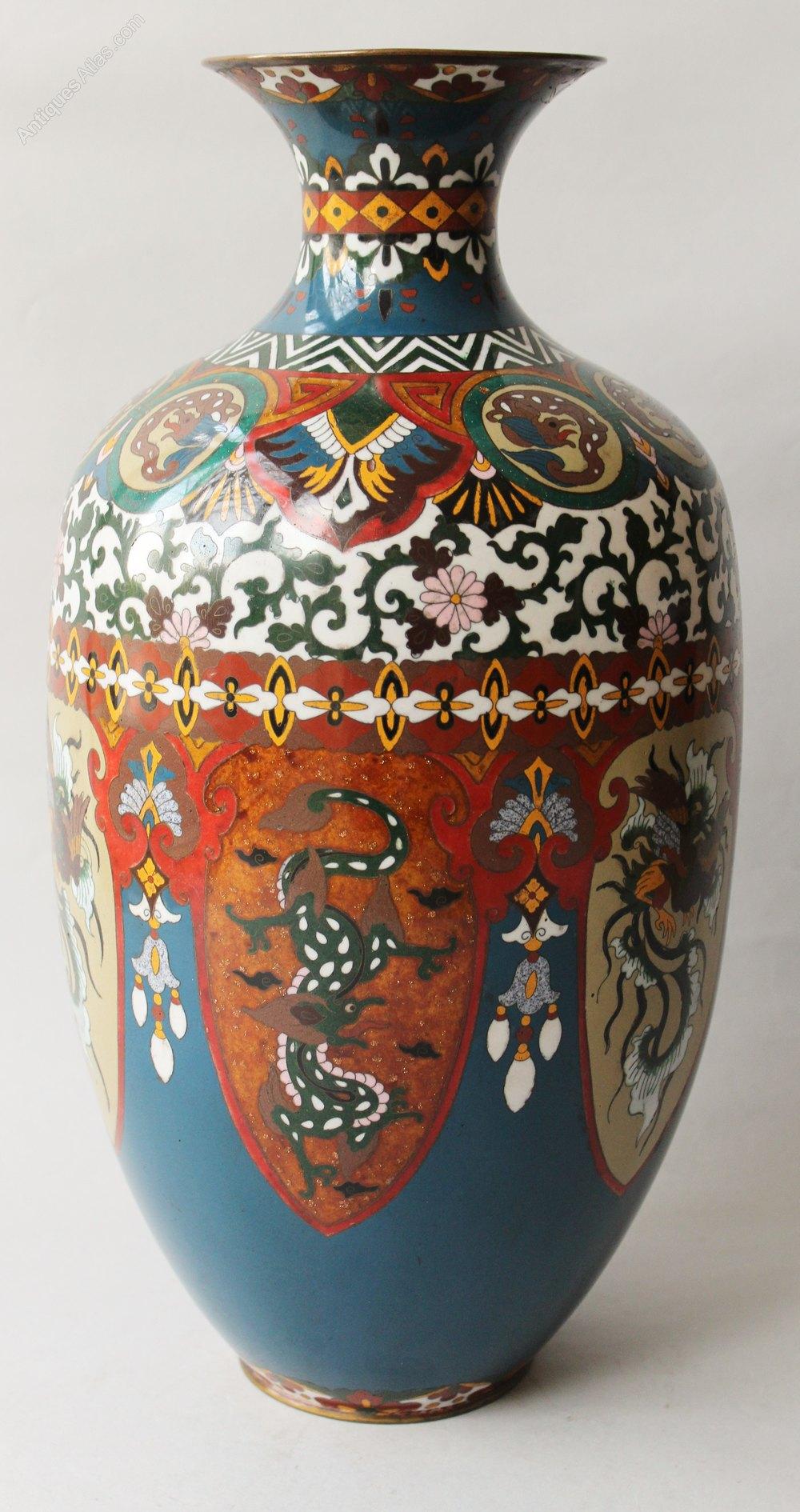 Antiques Atlas Very Large Antique Japanese Cloisonne Vase Dragon