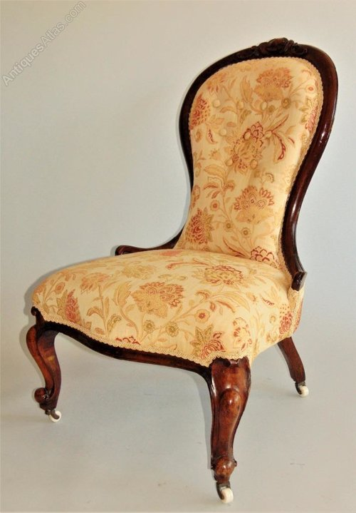 Victorian Mahogany Spoonback Nursing Chair Antiques Atlas