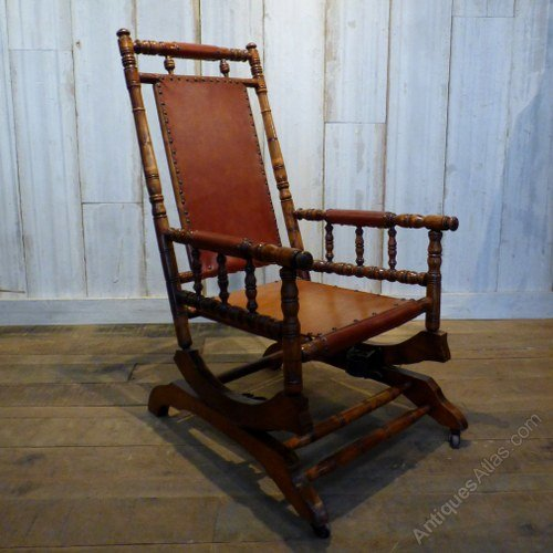 Carved American Rocking Chair - Reclaimed World - Browse Antiques