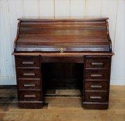 collinge antiques edwardian oak roll top desk