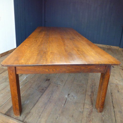 Antiques atlas extra large oak dining table for Extra small dining table