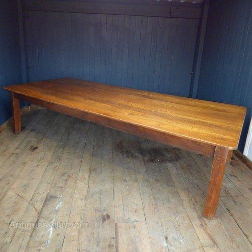 antiques atlas extra large oak dining table. Black Bedroom Furniture Sets. Home Design Ideas