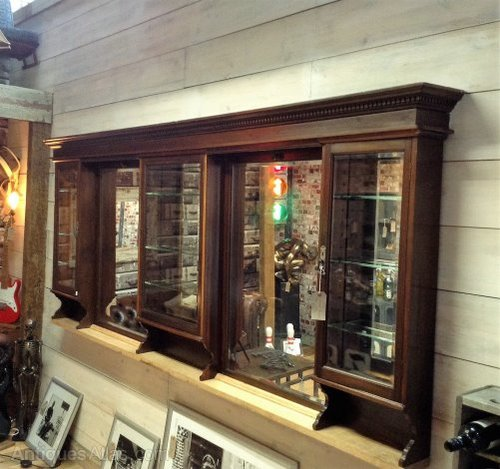 Victorian Barber Shop Mirrors And Cabinets