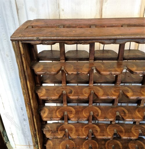 Vintage Bobbin Store Wine Rack Antique Wine Racks ... - Vintage Bobbin Store Wine Rack - Antiques Atlas
