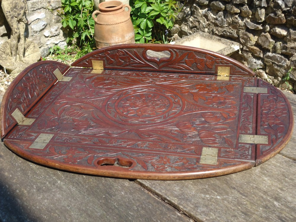 2d465a4c79 Aesthetic Movement Carved Butler's Tray