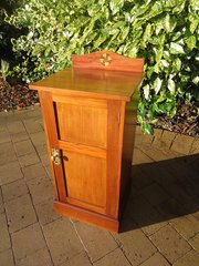 Arts & Crafts bedside cabinet with inlay