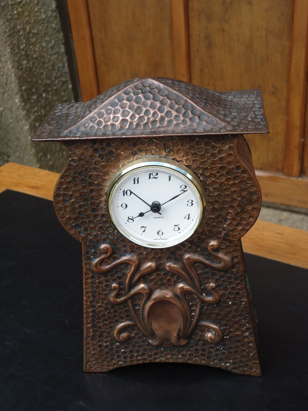 Arts and crafts mantle clock - Arts Craft Cornish School Mantle Clock