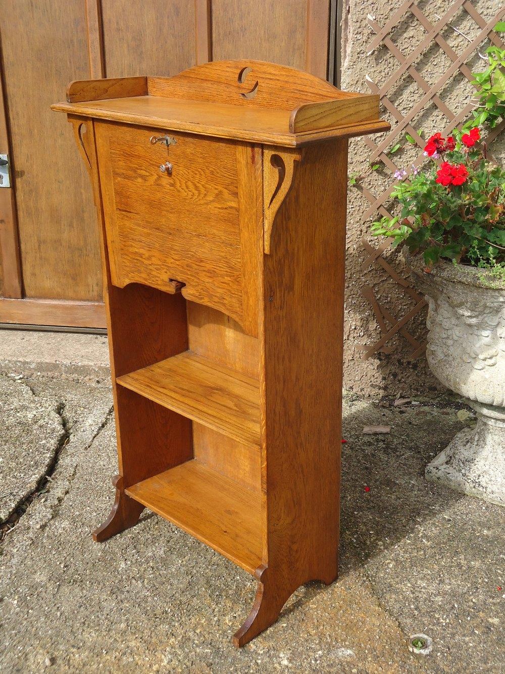Arts and crafts bureau - Arts Crafts Bureau Bookcase In Oak Antique Bureaus