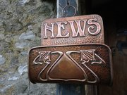 Arts & Crafts Cornish copper Newspaper rack