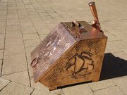 Arts & Crafts Cornish copper coal box